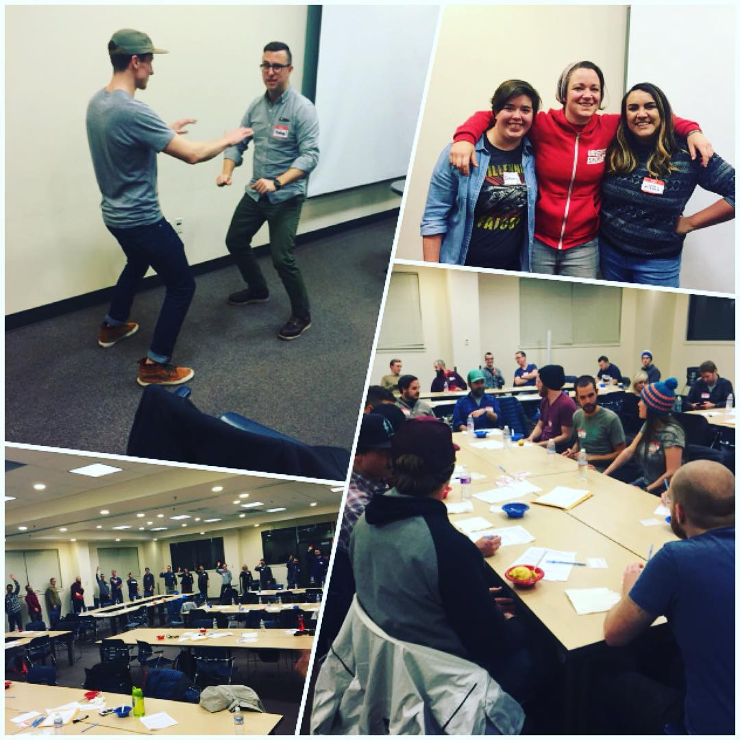 From the #west to the #pacificnorthwest our Sherpas get ready to #inspireyouth in #seattle! Such a great time being together to kickoff our strongest #pnw season yet! #snow baby snow! ✌