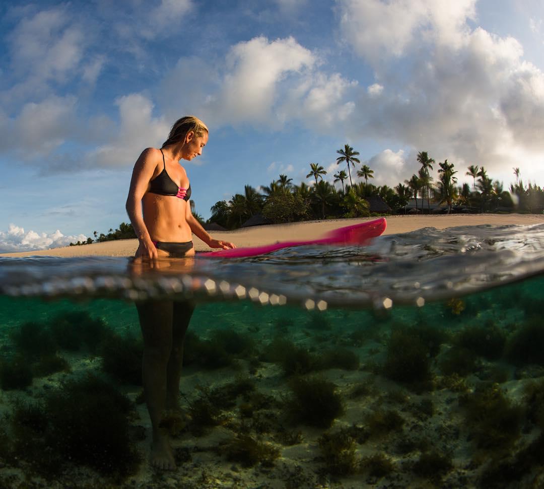 post-surf dip at @tavaruaislandresort