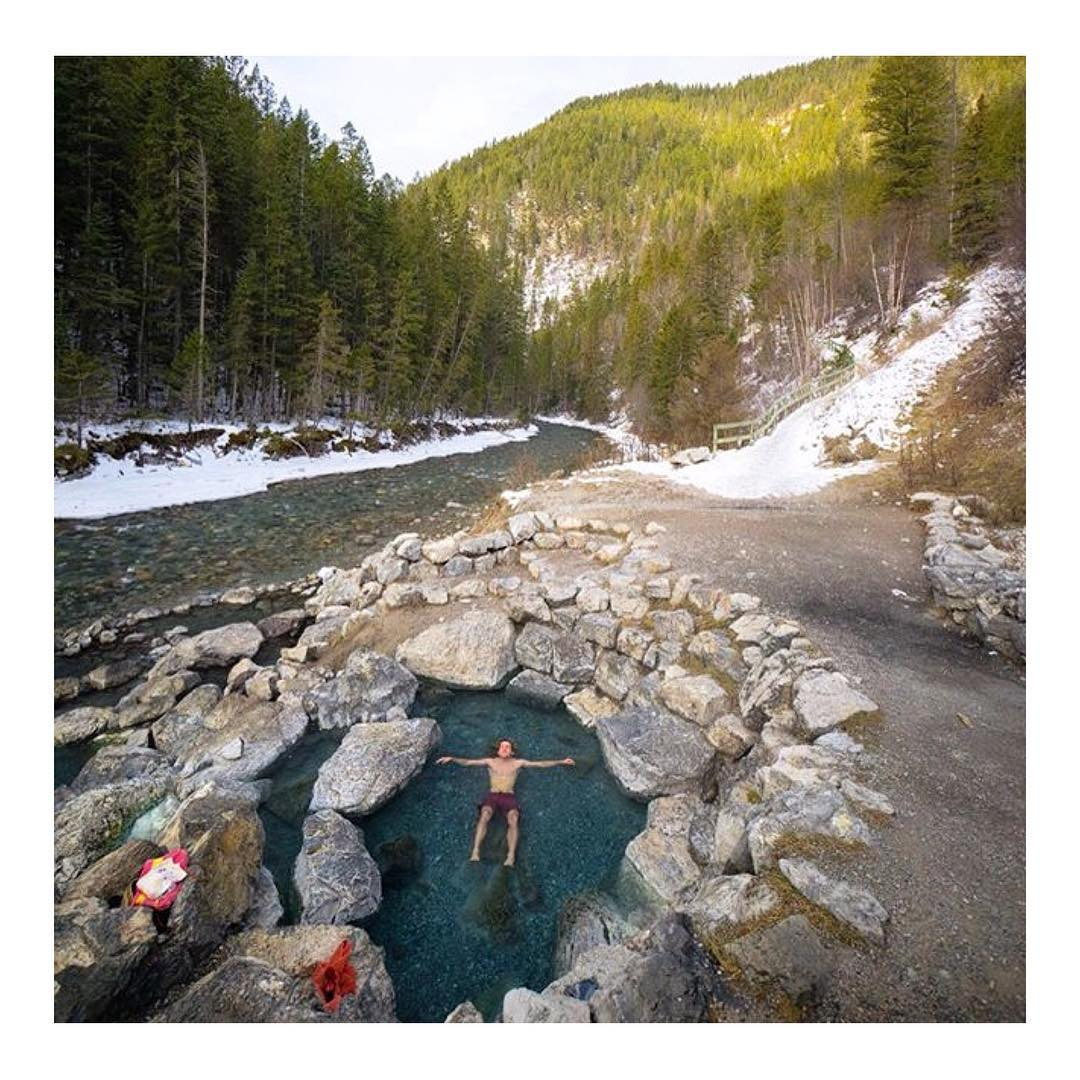 A dip in hot springs... Yes, please. British Columbia looking