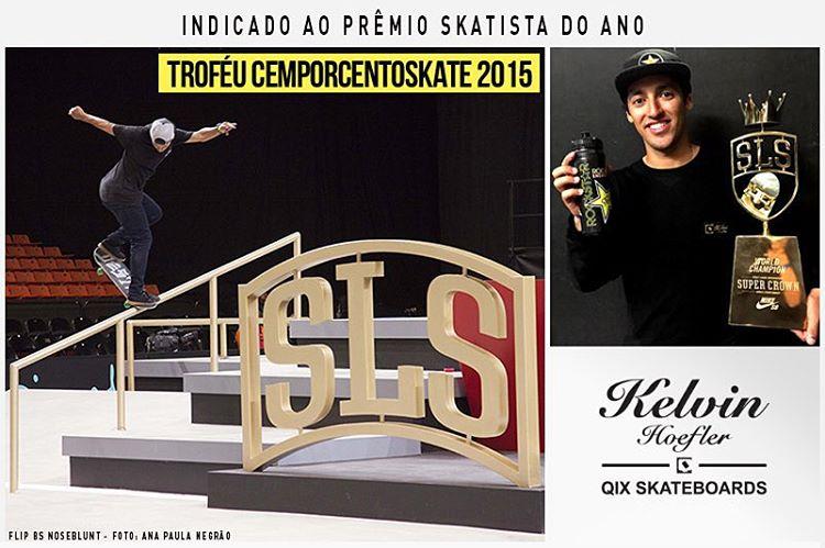 @kelvinhoefler Kelvin Hoefler é um dos cinco skatistas que estão concorrendo a sétima edição do prêmio Troféu CemporcentoSKATE. Ele que se destacou em diversos eventos a exemplo de sua boa participação na Street League Skateboarding, onde em seu...