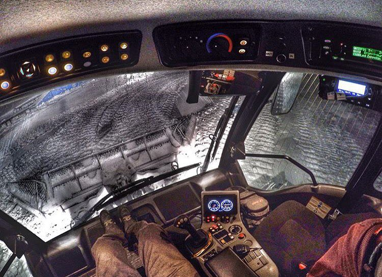 A view inside @zchcollins's space ship at night. Such a cool job! @beavercreek #getoutthere #adventureworthy #❄ ️