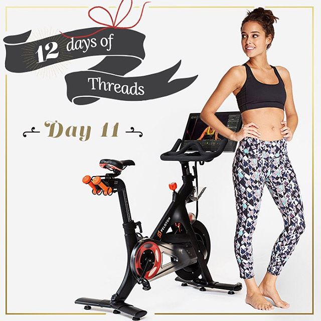 12 Days of Threads- Day 1⃣1⃣- giveaway. Win a T4T active outfit (pants and a sports bra) and one class to @pelotoncycle !! follow us on Instagram, repost this photo tagging @threads4thought & #12daysoft4t for a chance to win! #prize #giveaway #win...