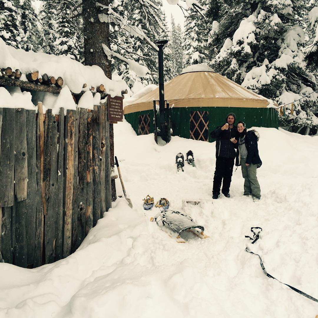 Looking good, Garret! Here in Idaho we snowshoe deep into the wilderness and camp out in yurts. But always remember, if you pack it in... PACK IT ALL OUT. Keep our nature beautiful by leaving no trace. Come yurt with us. #playhardgiveback #phgb...