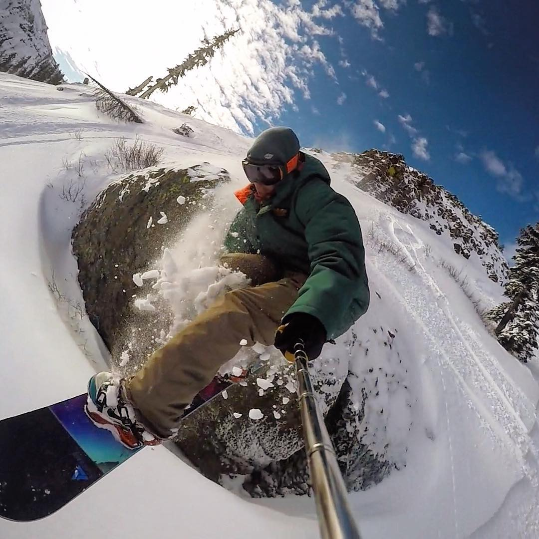 Academy OG Chris Blanchard @seeblanch getting a few turns in @squawalpine @gopro #teamseries