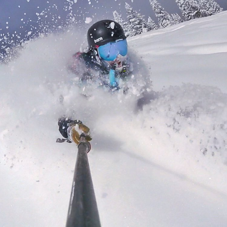 Legendary skiing yesterday...link to the video in the profile! #powderskiing #10thadventures
