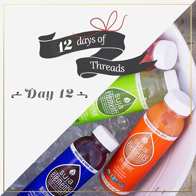 12 days of Threads- Day 1⃣2⃣- #giveaway. #WIN a 6-pack of juice from our friends at Suja Juice!! @lovesuja - Follow us on Instagram, Repost this photo tagging @threads4thought & #12daysoft4t for a chance to win! #prize #gifts #juice #healthy #organic...
