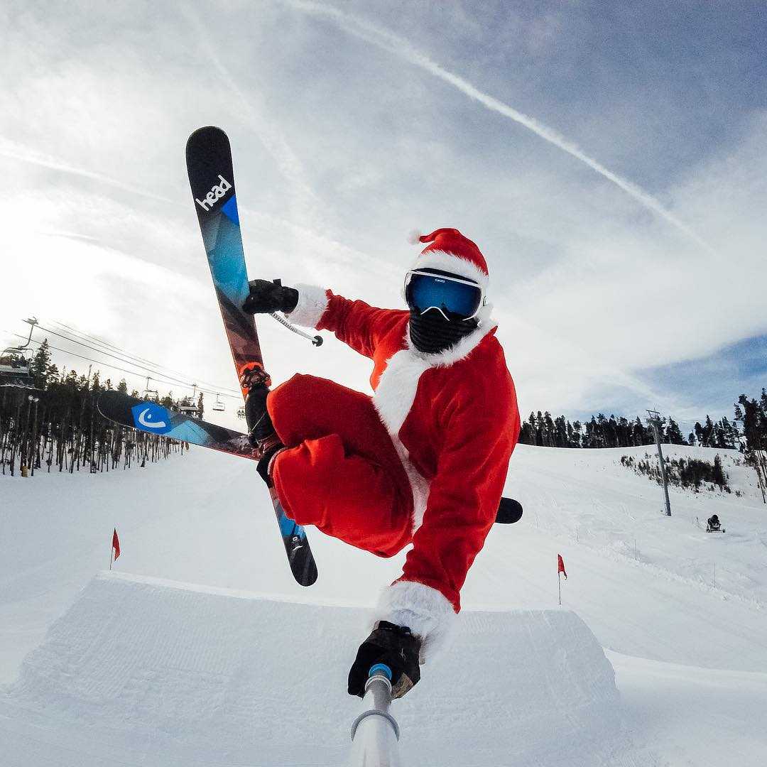 Photo of the Day! #SantaClaus catching some major air, celebrating a job well done. #