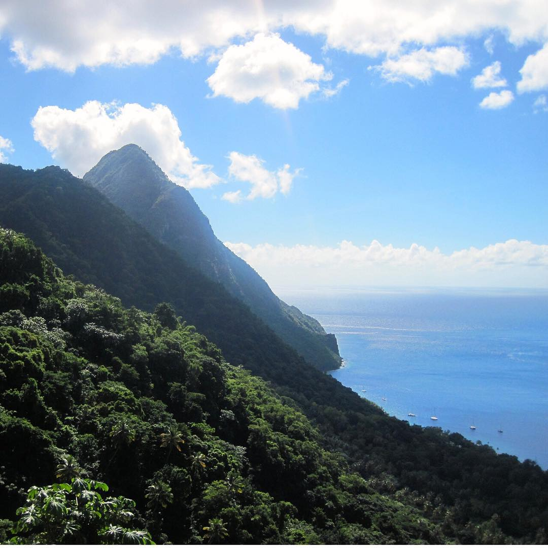 How 'bout a visit to the tropics for Christmas? Barbara Friedsam (@bfriedsam shares an image from the Pitons of St. Lucia for her adventure of the year. Looks pretty nice! #adventureoftheyear #stlucia #virginislands #adventurescience