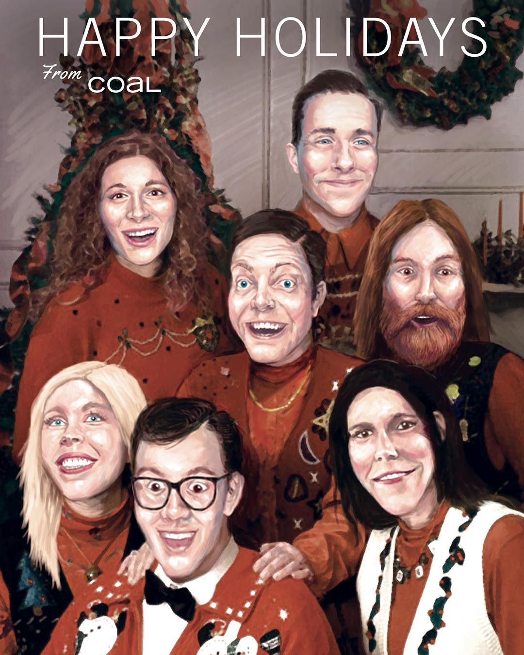 Happy Holidays from all of us at #coalheadwear! Our visual designer @mat_5avage is a holiday card wizard!