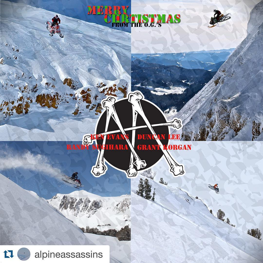 "Merry Christmas all you snow lovers!!! Fun #Repost from @alpineassassins: ""the original 4 a few years back when it all started. We all hope your living life to the fullest."" @kevansphotos @theduncan775 @randysugi801 @grantkorgan"