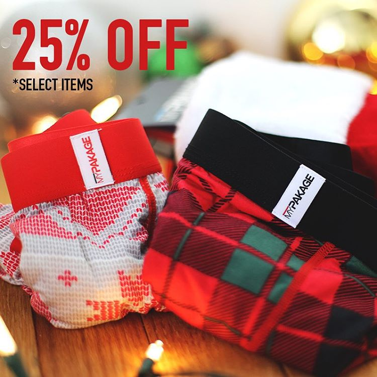 "Boxing Day Sale!  Use the code ""boxingday15"" to get 25% off select items in the 'Boxing Day Collection' - don't miss this chance to stock up for the year! #MyPakage #permissiontoplay"