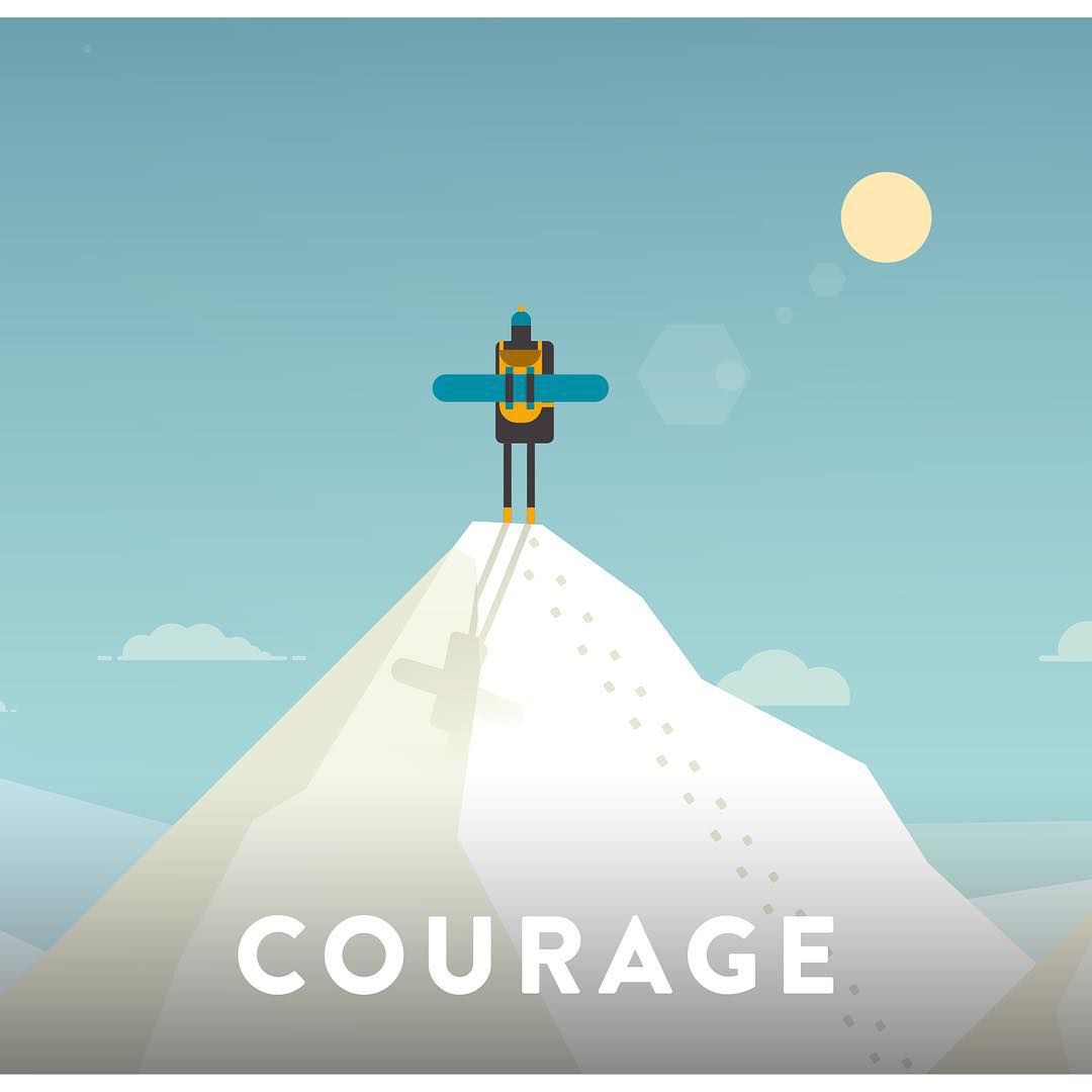 #Courage - noun | : the ability to do something that you know is difficult or dangerous  Rightfully the first of the SOS #corevalue that our students live and breathe as they gear up to experience new and unfamiliar activities like snowboarding and...