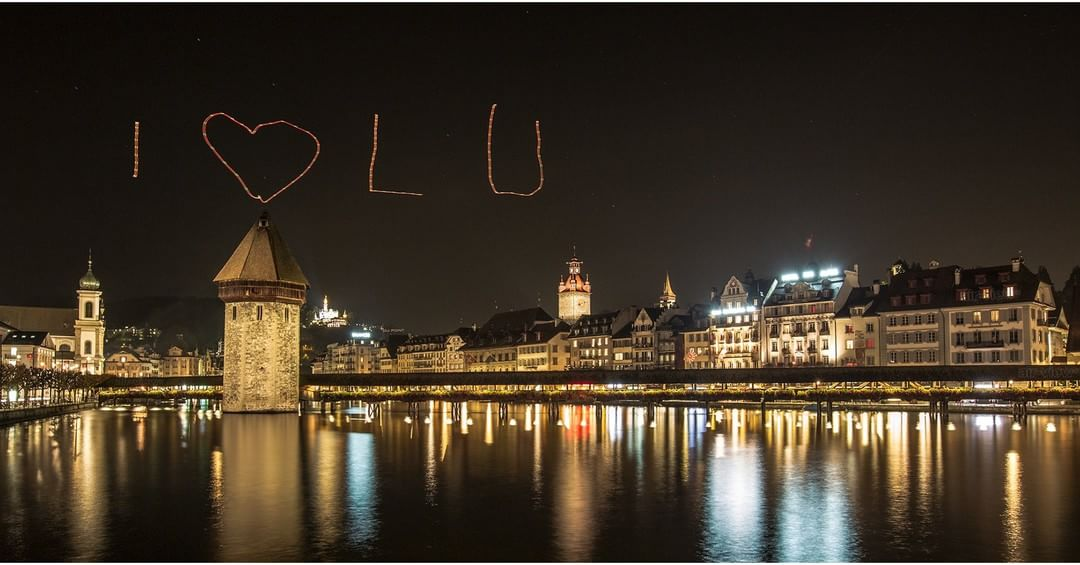 I love LU or I love you?  Shot taken in LUCERNE, Switzerland  Credit: @air_view  #DJI #IamDJI #WhatsNext
