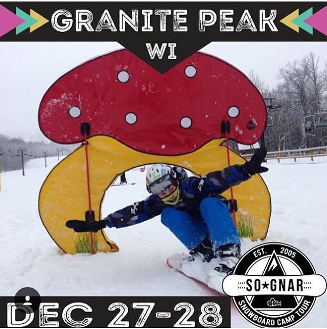 WISCO! We're in the building! Come join us for camp! Learn some new moves, get hooked up with FREE gear, and enjoy the ❄️FRESH SNOW❄️ at @granitepeakskiarea? Sign up tonight or show up at Granite Peak from 9:15-10:00 AM tomorrow! Check out the