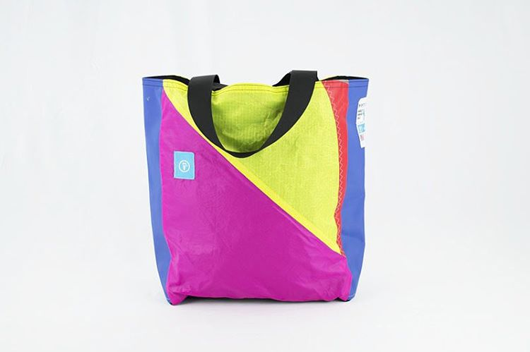 Stay classy with the Classic Tote. All Mafia Bags are one of a kind and this particularly bright tote is an eye catcher