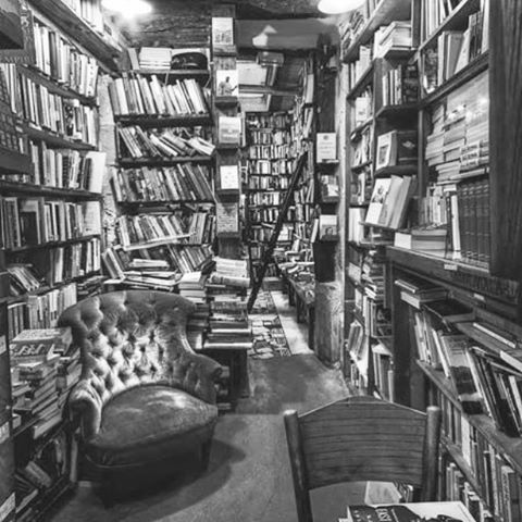 """You're the only person I've ever met that can stand a bookstore as long as I can."" ~ kinship as defined by Junot Diaz // photo of Shakespeare and Company in Paris #AllSwell"