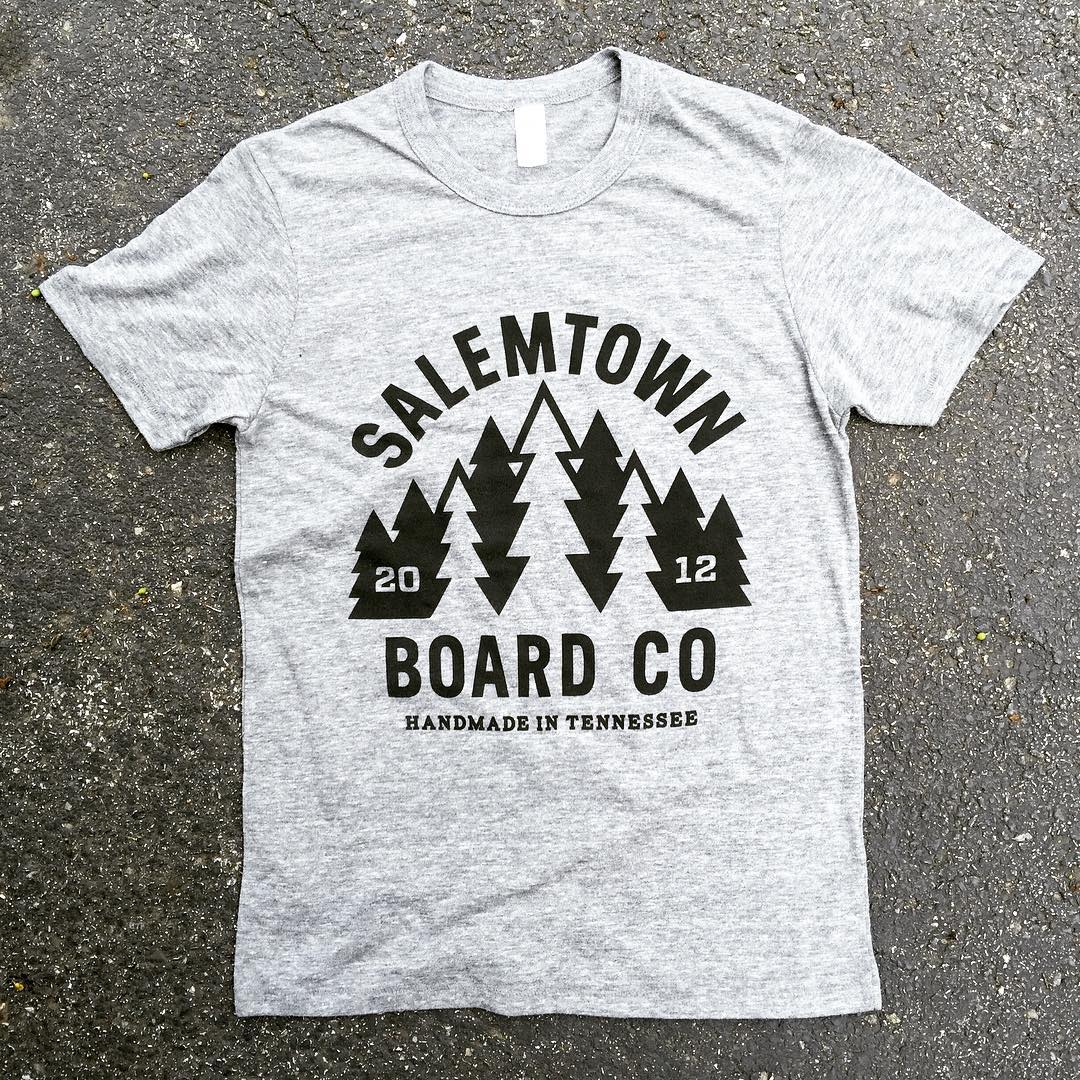 Restock on heather grey Forrest T shirts. This time we went with a tri-blend.