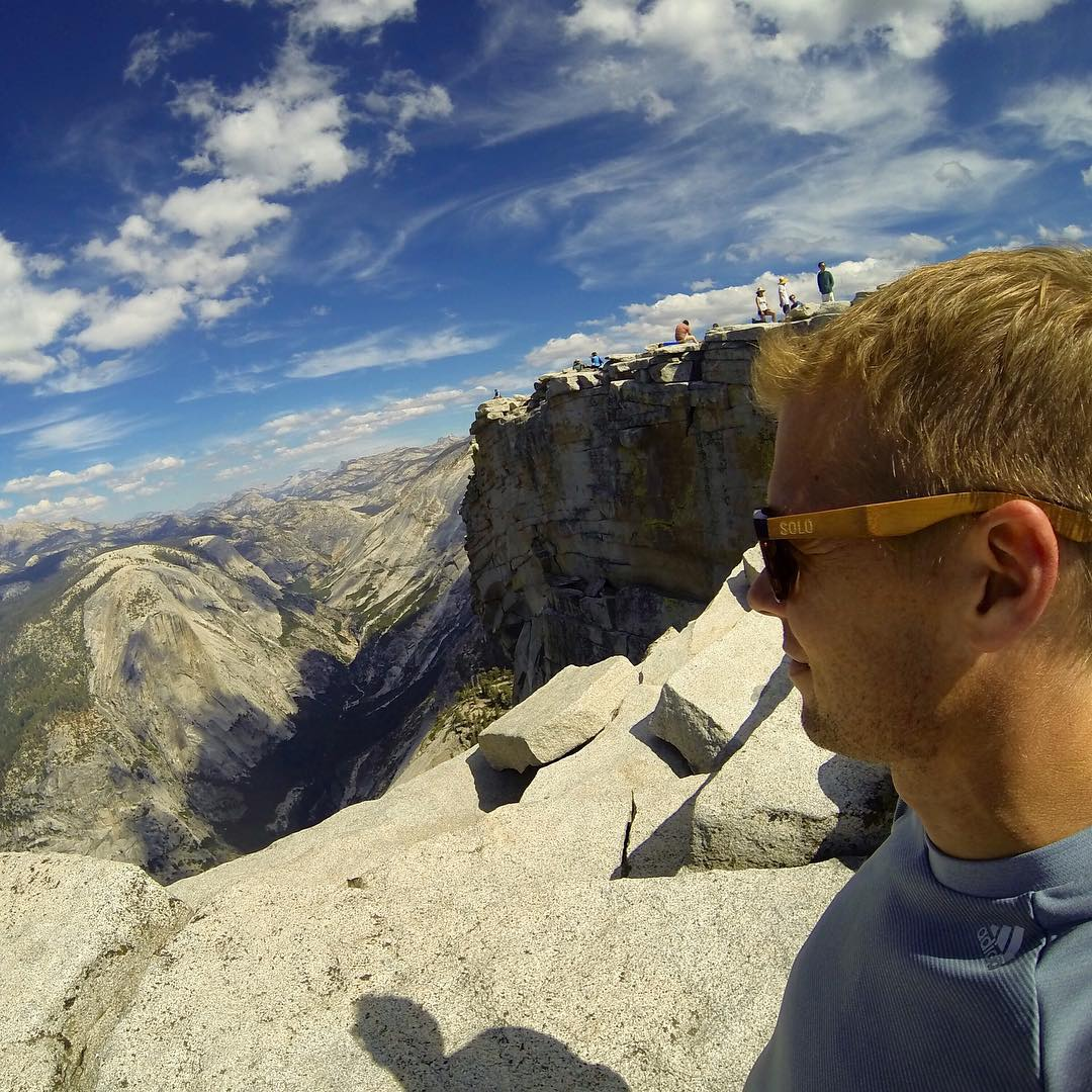 The top of Half Dome in Yosemite National Park  #soloeyewear #liveandgive  #yosemite