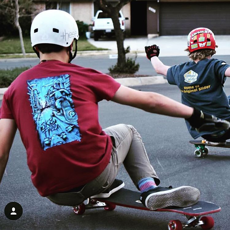@suematjitsu out shredding in his new #skatefree Tshirt #pushcultureapparel