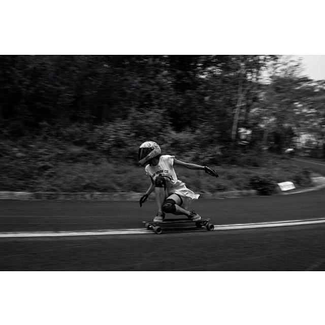 Killer rider Valeria Figueroa from #Mexico. She's awesome. Fele Trejo snap. #longboardgirlscrew