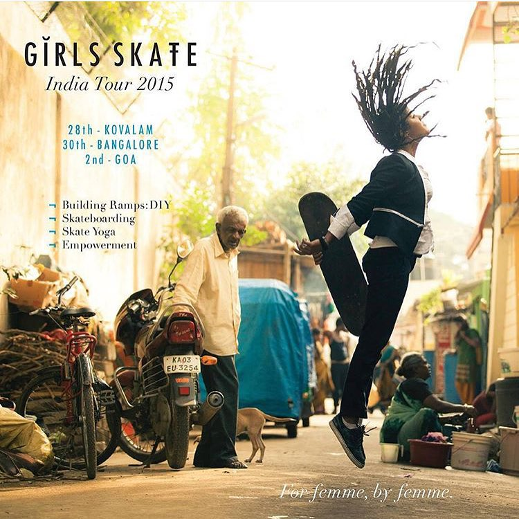 It's on! The first all-girl @girlskateindia Tour starts today! @rattyatty is hosting girls from all around the world to skate, build ramps & empower women around India. As amazing as it gets.  Follow @girlskateindia for daily updates and contact them...