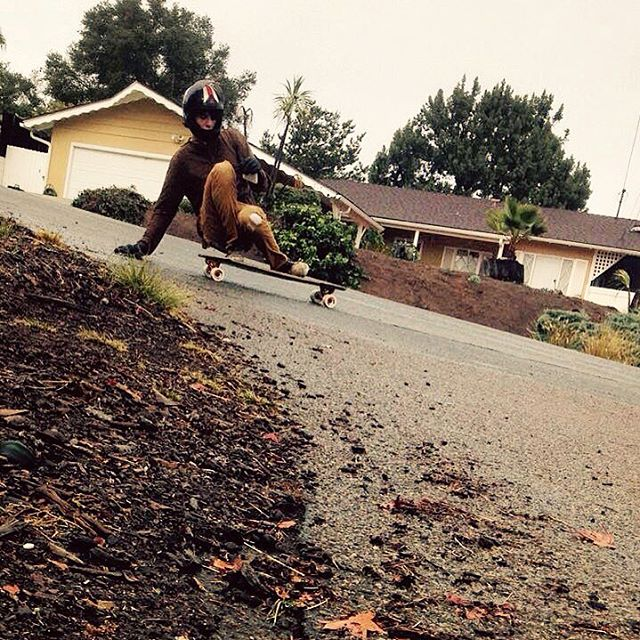 Getting after it, rain or shine. Flow team rider @_sam_bfc isn't afraid to get down and dirty. Photo from Sam's sister.