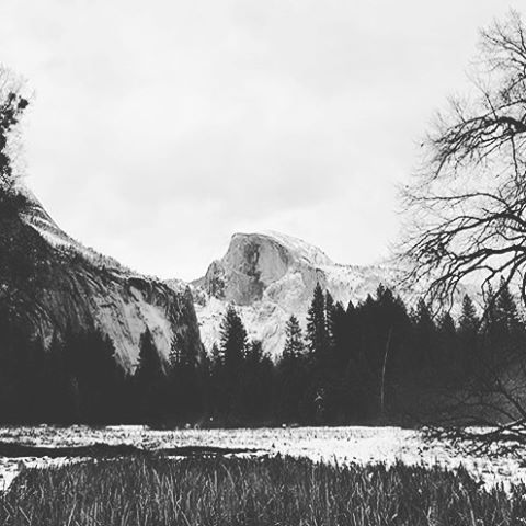 S N O W  D O M E Winter has set in on our #radparks, beautiful snap by @rachelnoir thanks for sharing @yosemitenps in her winter coat