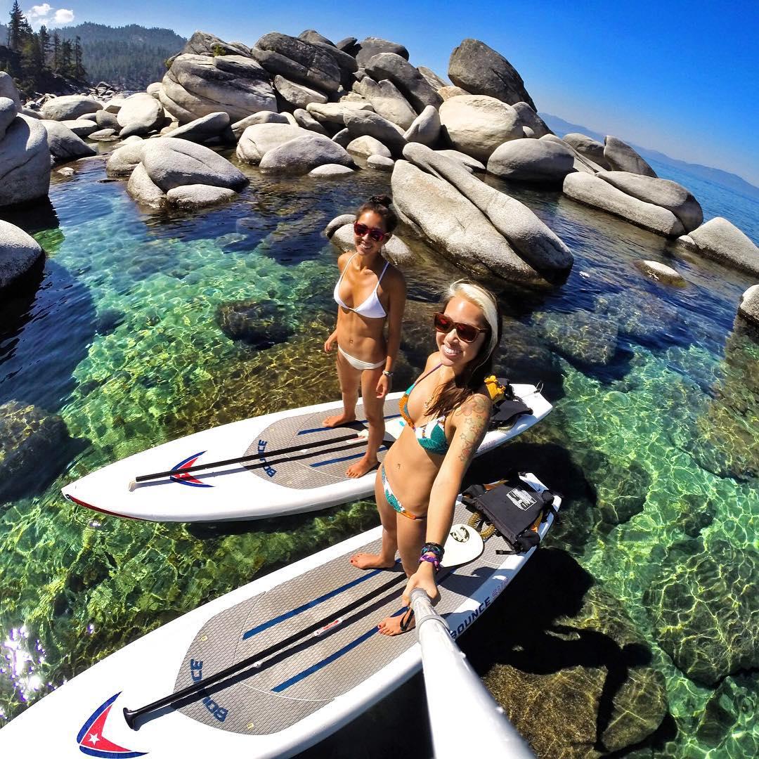 Sup Lake Tahoe. Photo: @BOMBTWINZ GoPro HERO4 | GoPole Reach #gopro #hero4 #gopole #gopolereach #sup #laketahoe