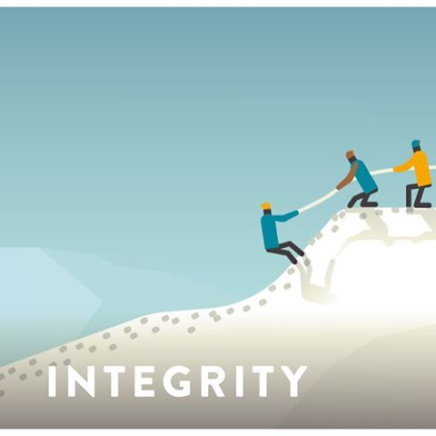 "#integrity - noun | in·teg·ri·ty : the quality of being honest and fair : the state of being complete or whole  Often sited as one of the ""favorite"" core values, Lauren shares with us, ""Integrity is to do the right thing without anyone asking."" We also..."
