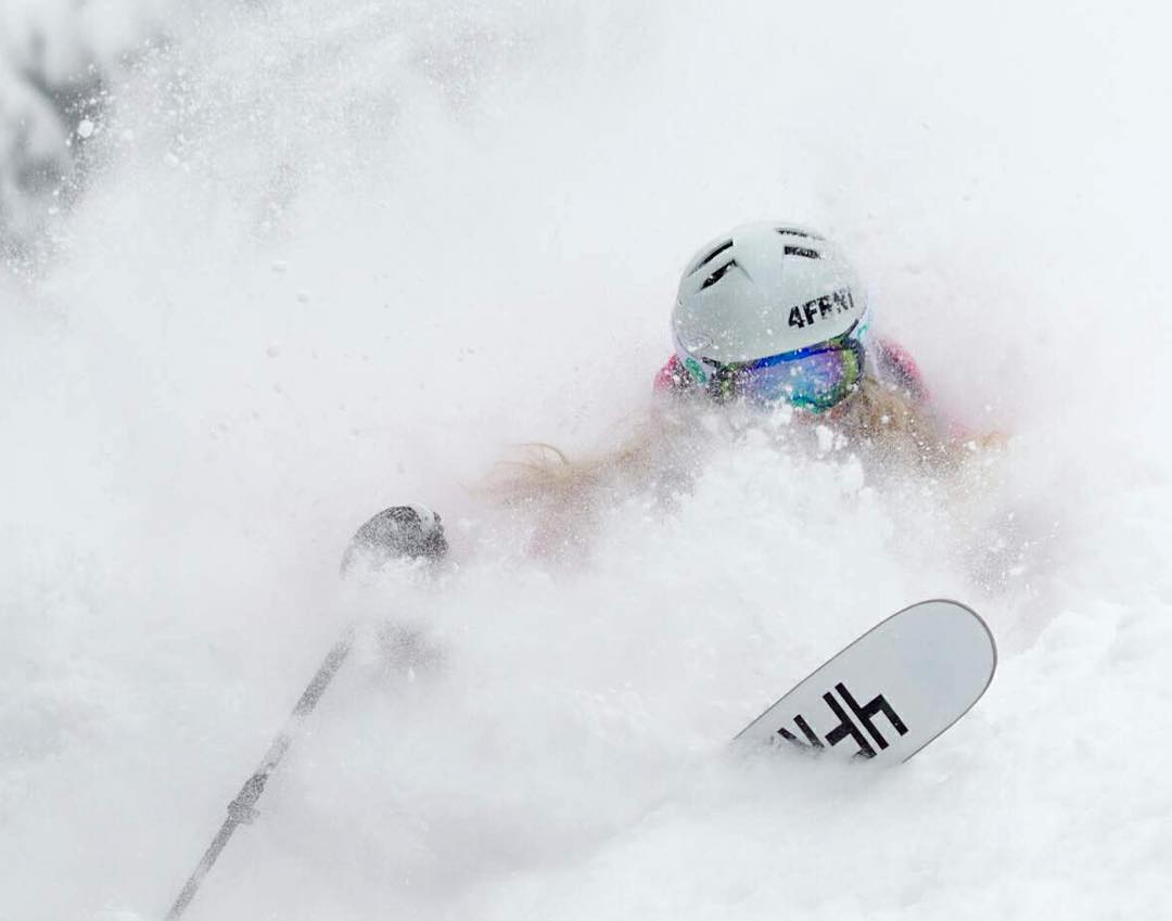 Ladies... This is what happens when you ski the Hoji W. #shapingwomensskiing   photo: @codydownardphoto