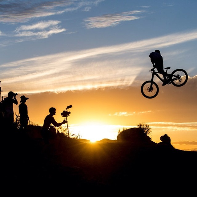Head out west, and ride into the sunset. #rampage