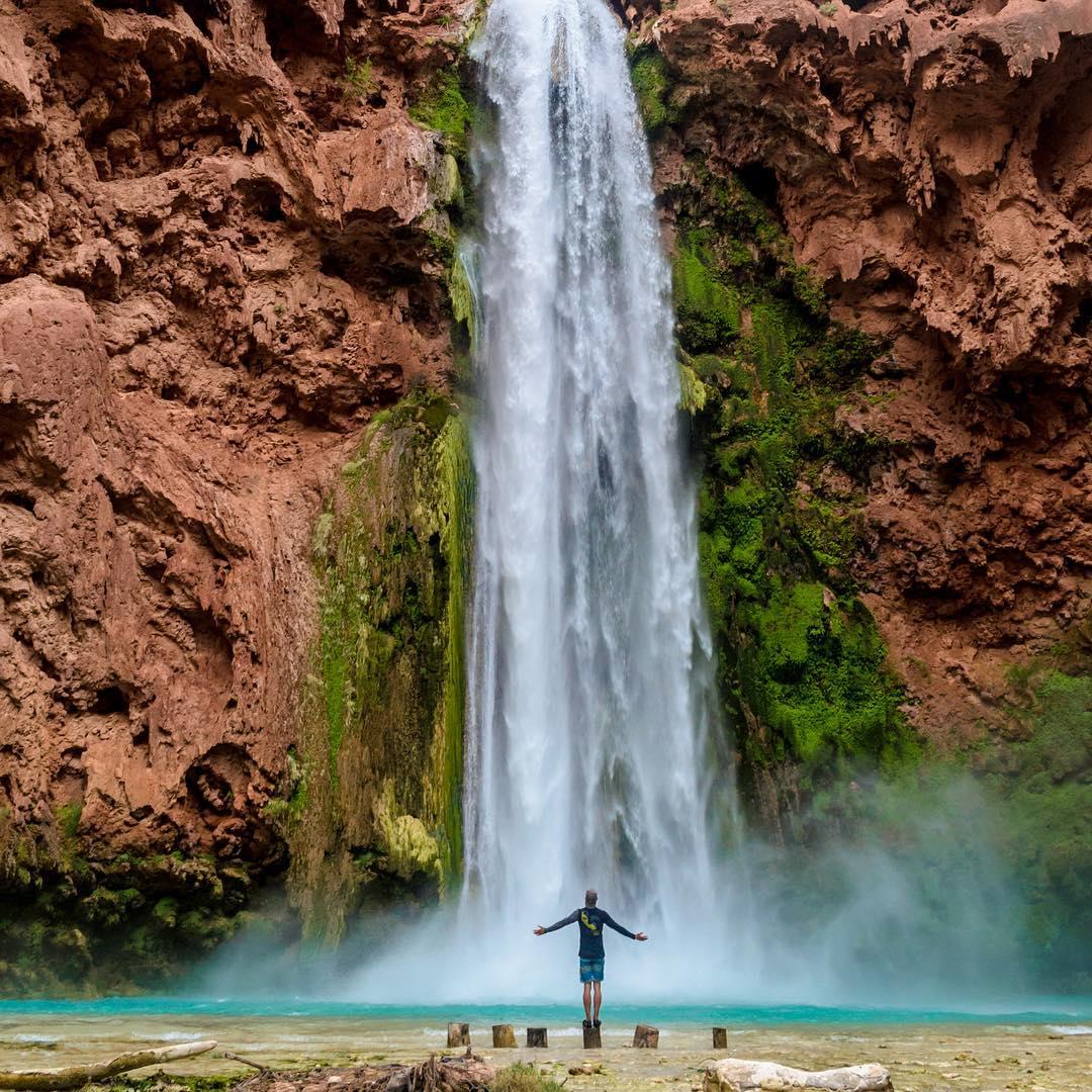 Creative Ambassador, @the_halfie, exploring waterfalls!  #soloeyewear #liveandgive