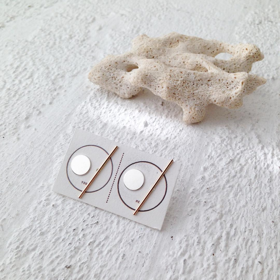 New Circle & Line Stud sets. Mixed metal in Sterling Silver and 14k Gold. #Yum!  New Year, new goal: take from life the gifts it offers.  A great big thank you for all my favorite people, my supportive customers and PLEASE share your Julia Szendrei...