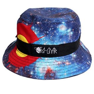 "✨Summer or Winter, doesn't matter when you are this far out there.✨ Galaxy bucket available at the webstore link in bio. Promo code ""Holiday 30"" saves you 30% at checkout!! 〰⚡️〰 #sognar #createordie #buildlocallyspreadglobally #snowboarding..."