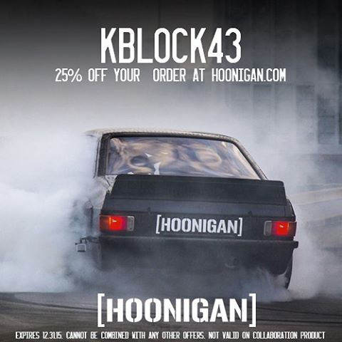 "Only a few days left to get 25% off your whole purchase at #HooniganDOTcom for the holidays - just enter the code ""KBLOCK43"" at checkout to apply the discount to your cart! All thanks to @TheHoonigans. #happyshopping #supporthooniganism"