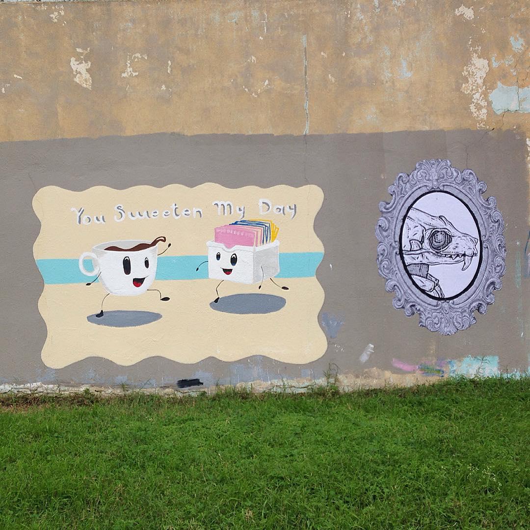 @bortart & ☕️Unknown • • #atx #streetart • • #austintx #texas #tx #spratx #art
