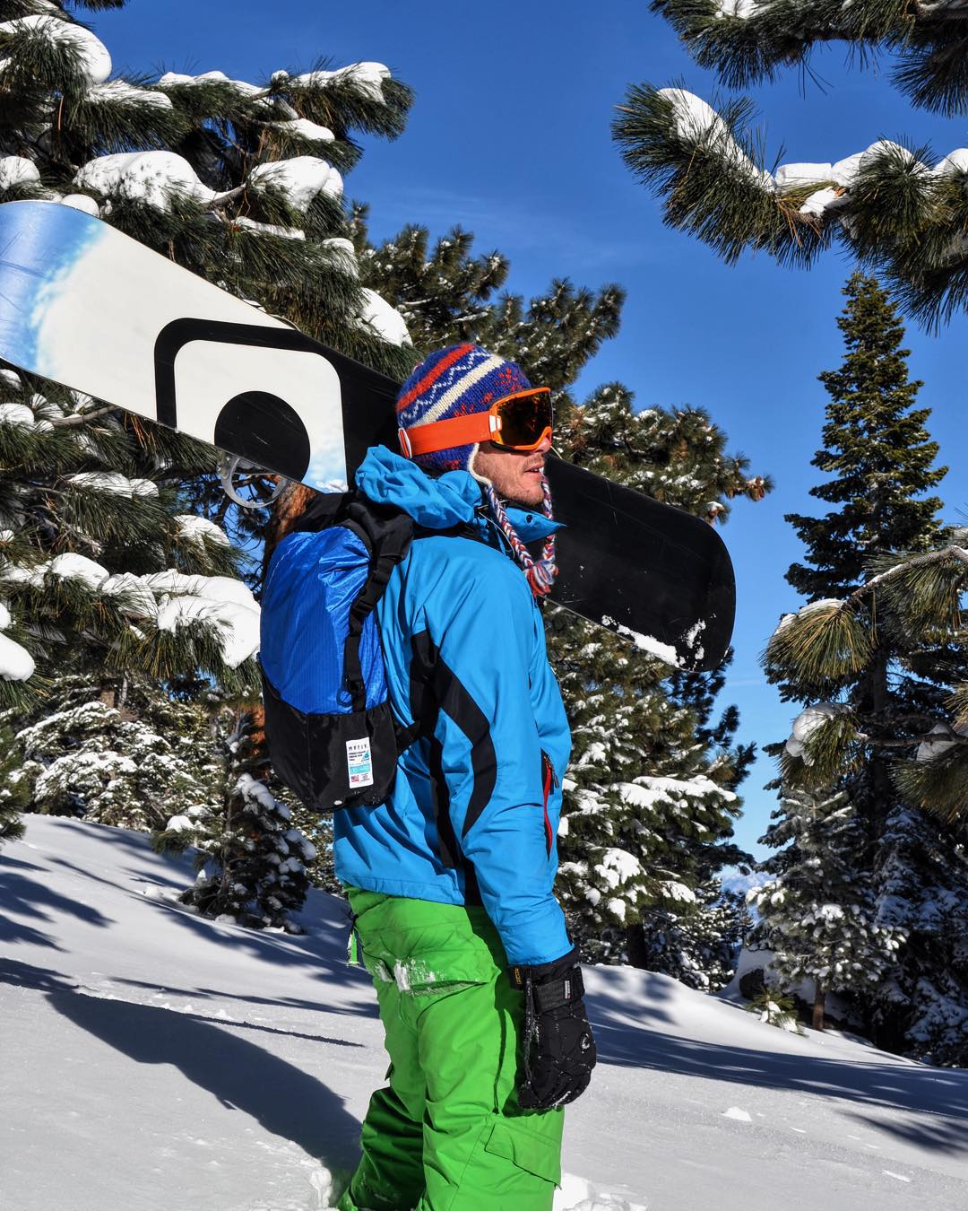 The Tour Pack making fresh tracks at #LakeTahoe. The durable sail material keeps your possessions safe and dry in the snow and each bag is guaranteed for life.  #matchyourjacket #madeforlife #california #snowboarding #wintertime