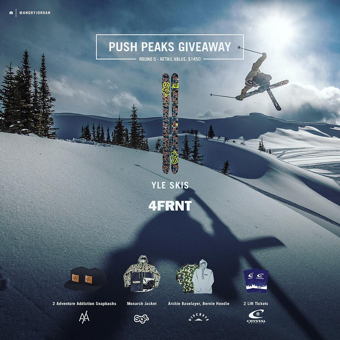 Don't forget about the free skis we're giving away! 2 Days left to enter. YLE Saga Collab skis could be yours along with @sagaouterwear Monarch 3L Jacket, @discrete Archie baselayer & Bernie hoodie, @adventure.addiction #snapbacks and 2...