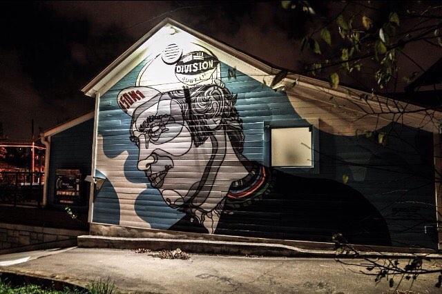 @davidfloresart • • Division 1 East 7th #atx • • #austintx #texas #tx #mural #divisiononebikes