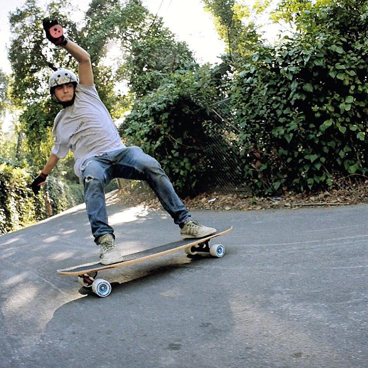 Hanging it out, Gustavo Mello (@mello_gustavo) lets one slide on some 82a #berserkers. #divinewheelco #divinewheels #hailodin #odincore