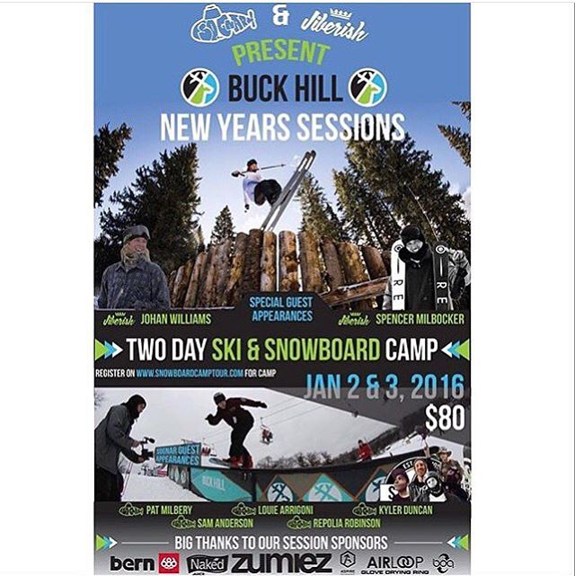 We are stoked to announce that we will be teaming up with fellow Colorado fam @jiberish and their ski crew w/ @jonahwilliams and @milbocker at @buckhill to kick off 2016!!