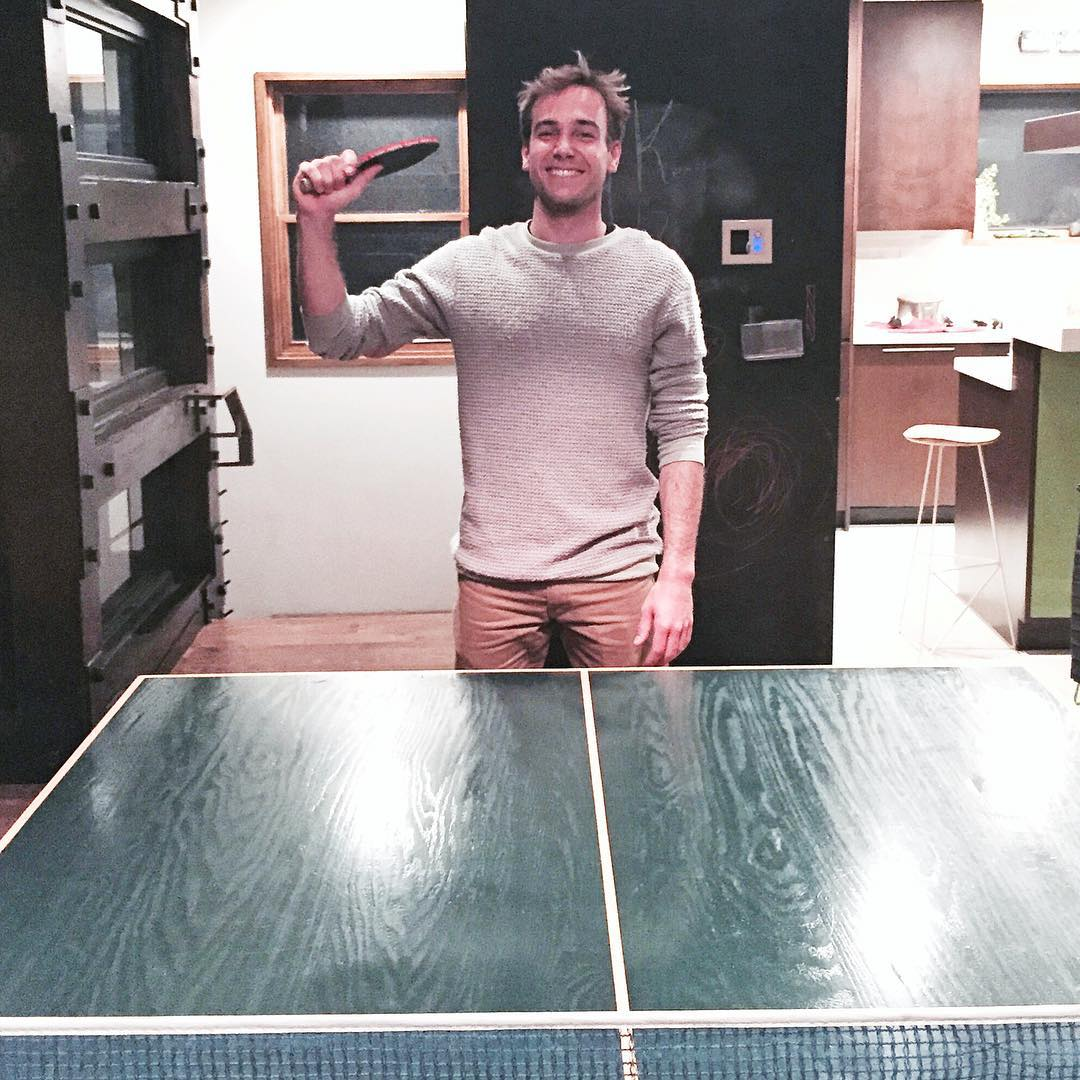 One of last night's ping pong victims: Matt Powers (@powers_sucks). Although I wasn't playing all that well, I didn't give Matt the pleasure of being able to say he beat me! Ha. #ponglife