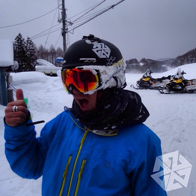 Powface portrait of @robkingwill stoked after days of riding deeep snow in Japan. #warrenmiller #llbean #avalon7 #liveactivated #japow #powfacepowwow @llbean @smithoptics
