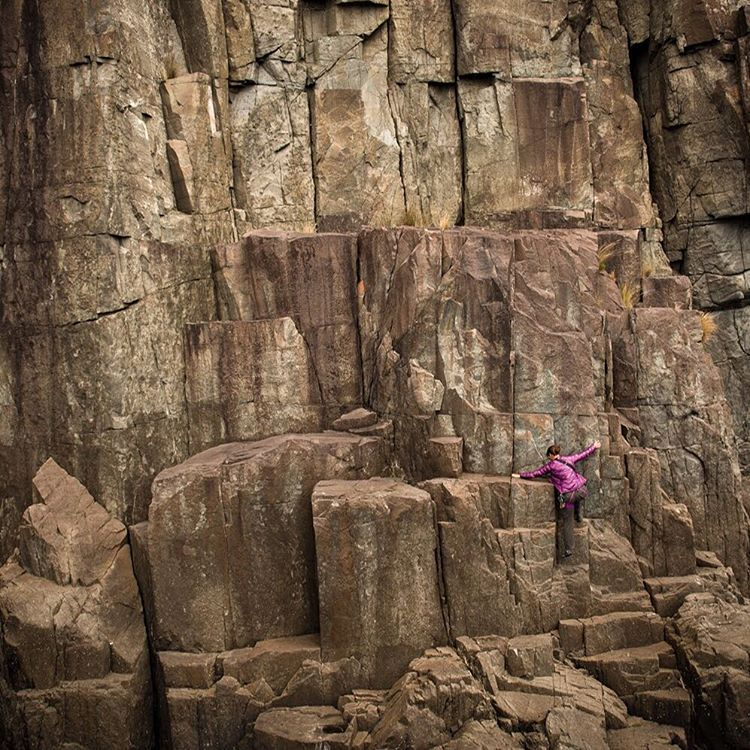 Adventure photographer @krystlejwright climbing in #Tasmania with a #CaptureClip by her side. Check out her beautiful Insta feed to see more of her zany adventures #downunda.