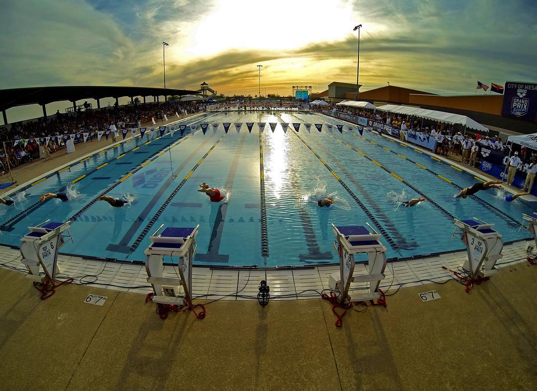GoPro Featured Photographer - @donaldmiralle  About the Shot: Here's a general view of the start of the Women's 200M Freestyle Final during the Arena Grand Prix of Swimming on April 25, 2014 in Mesa, Arizona. I spent a couple days covering Michael...