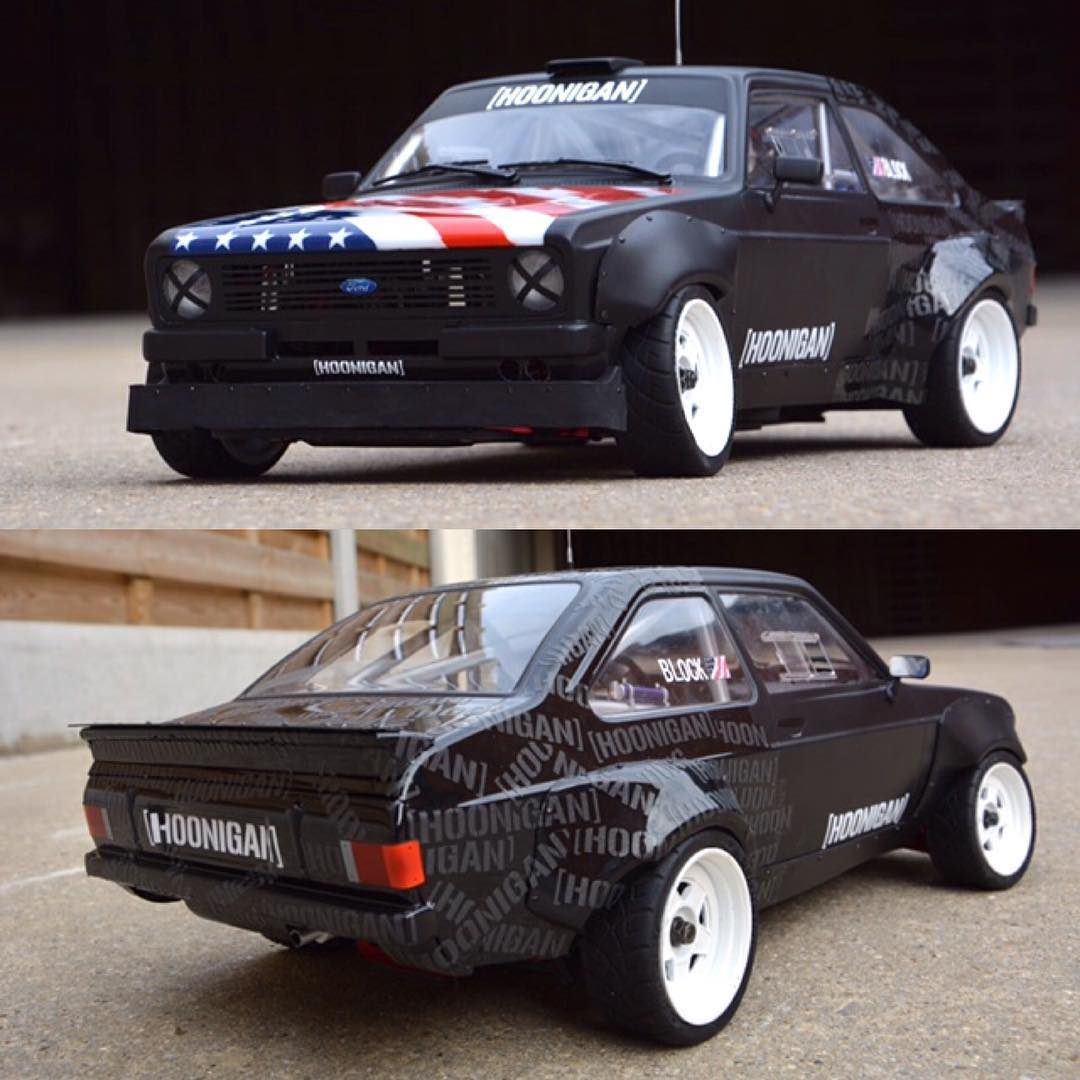 Our fan @dwdrccustoms sent us over this rad RC replica of the #GymkhanaEscort. #hooneverything