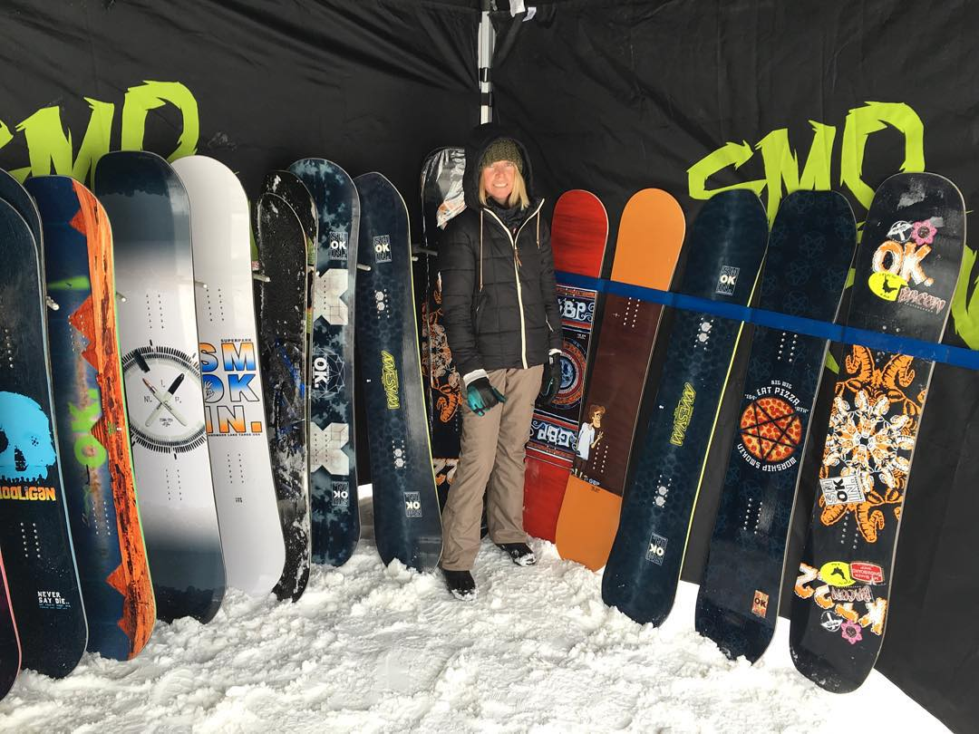 Come try the new boards @skijfbb today ! Big thanks to @wara_cerretti for all the help on #SmokinNationaDemoTour ,we have been turning a lot of people on to our brand and getting the story out . #ForRidersByRiders |#handmadeUSA | #3yearwarranty |...