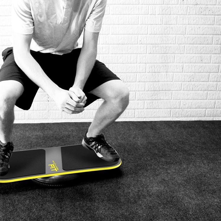 Getting fit in 2016! #squats #balanceboard #revbalance #fitness