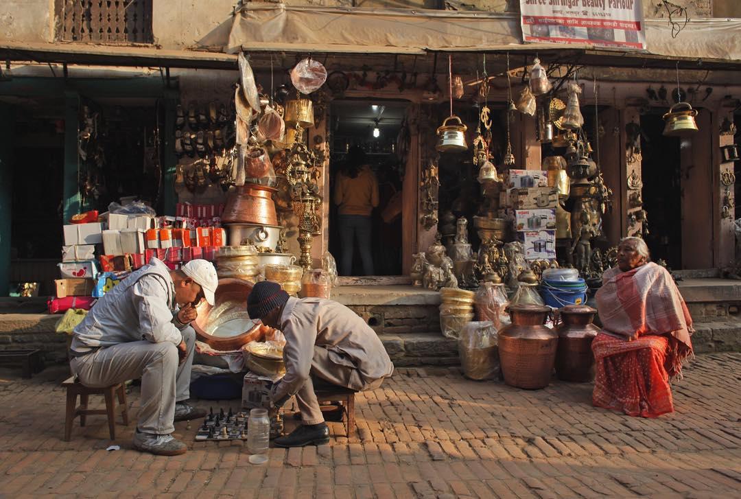 Afternoon light in Kathmandu.