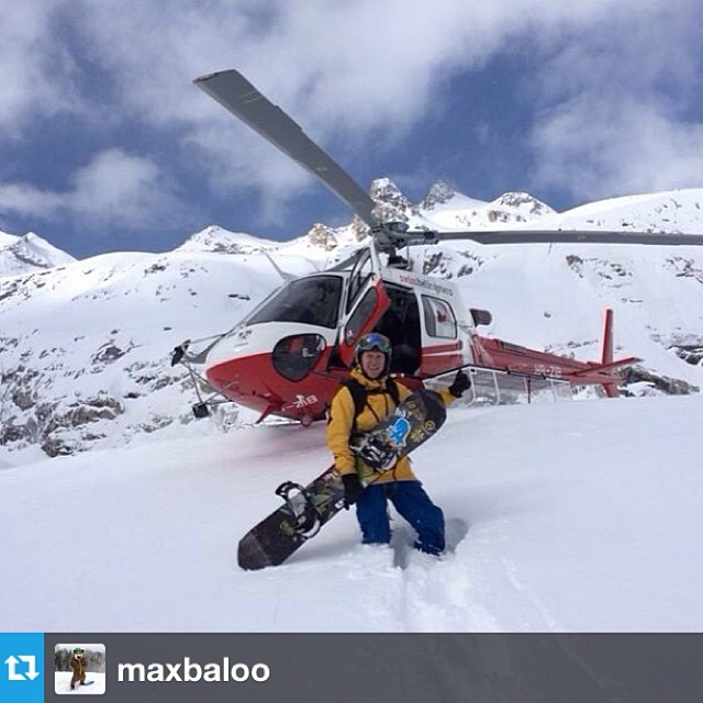 #Passitonproject getting some heli time in the Alps. Regram from @maxbaloo Enter to win your own #passitonproject board at www.asymbol.co
